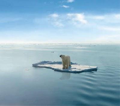 Fake polar bear